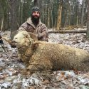Hunter With Rocky Mountain Ram
